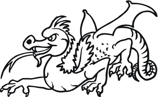 Crouching Dragon Coloring Page