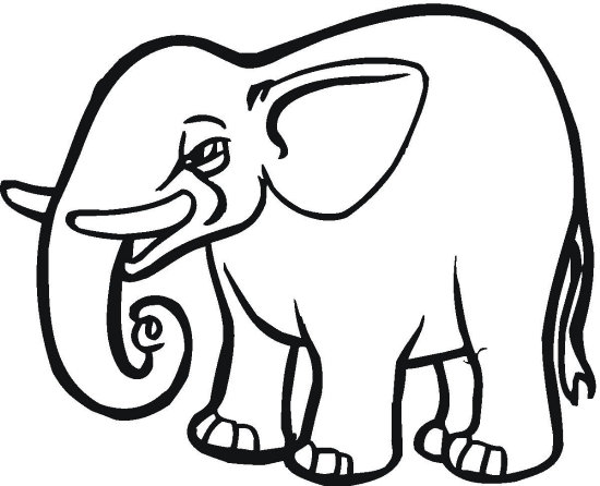 Cut Out Elephant Coloring Page Color Book