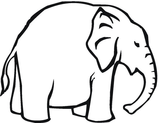 Fat Elephant Coloring Page