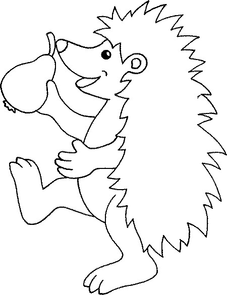 Marching Hedgehog Coloring Page