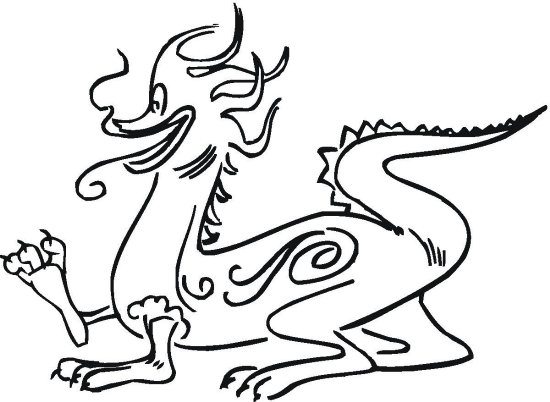 Stomping Dragon Coloring Page