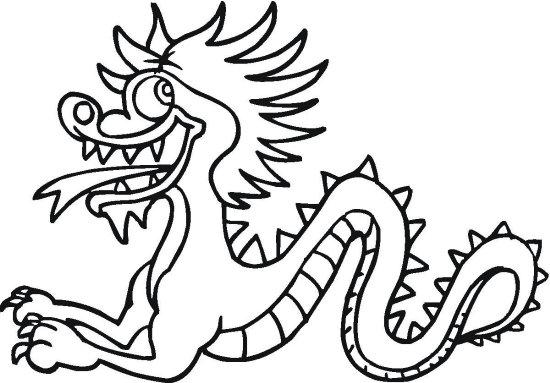 Crawling Dragon Coloring Page