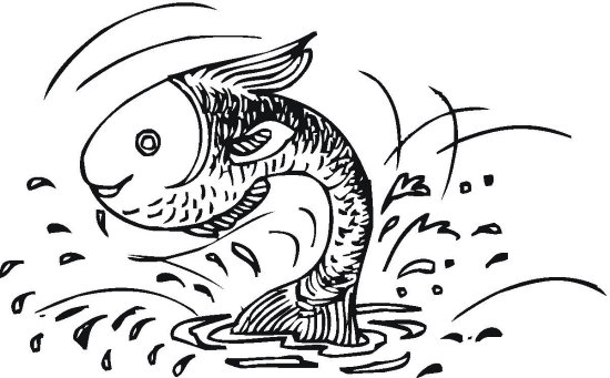Bass Fish Coloring Page