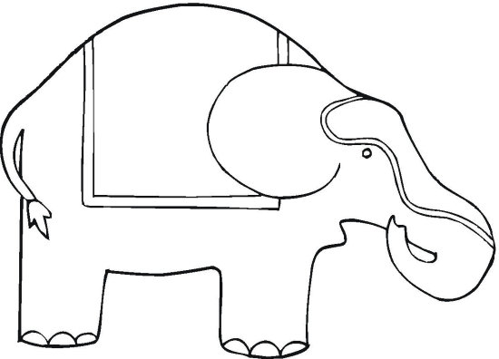 circus elephant coloring page - circus elephant coloring page color book