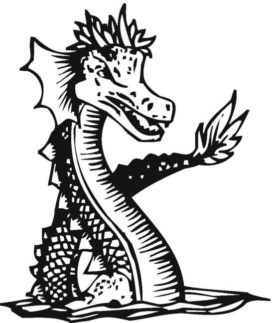 Sea Serpent Dragon Coloring Page - Color Book