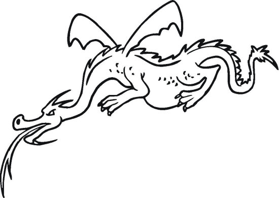 Winged Dragon Coloring Page