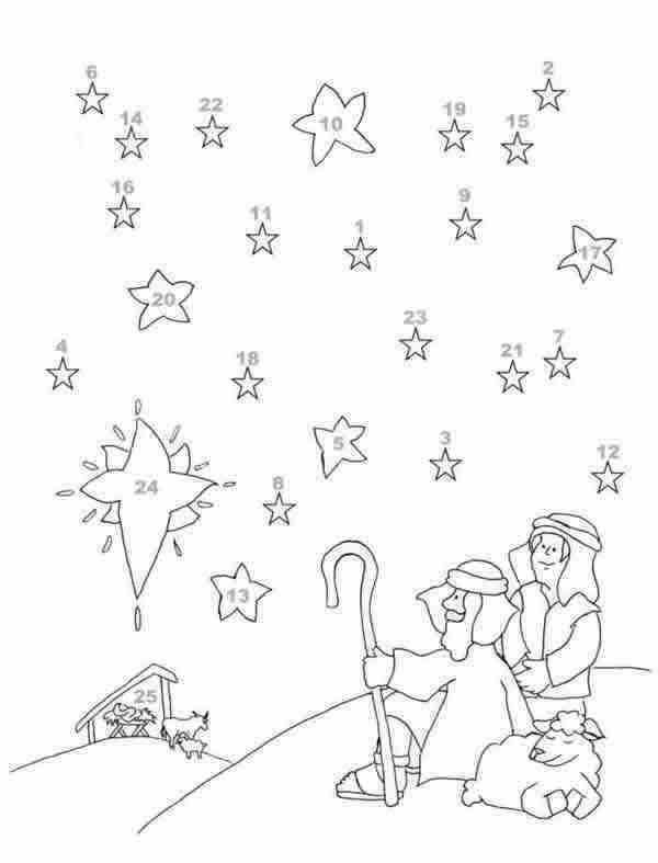 advent coloring page color book