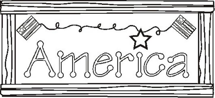 Americansignbw Coloring Page