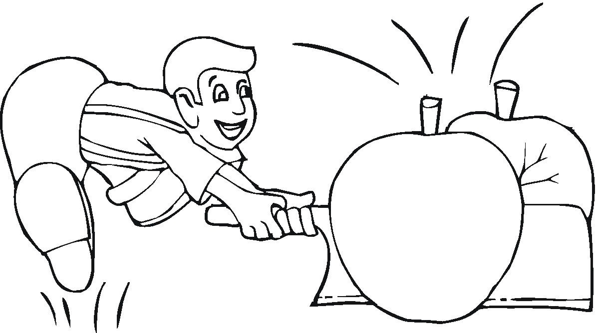 my apple book coloring pages - photo#7