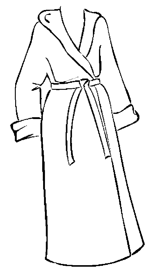 Bathrobe Coloring Page Color Book