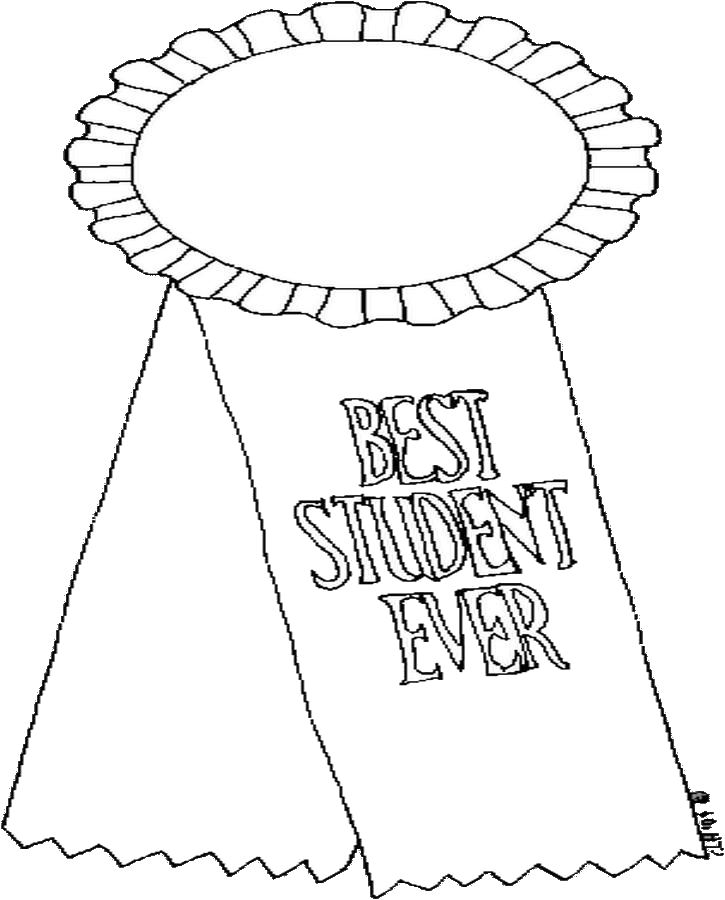 Best Student Ever Coloring Page