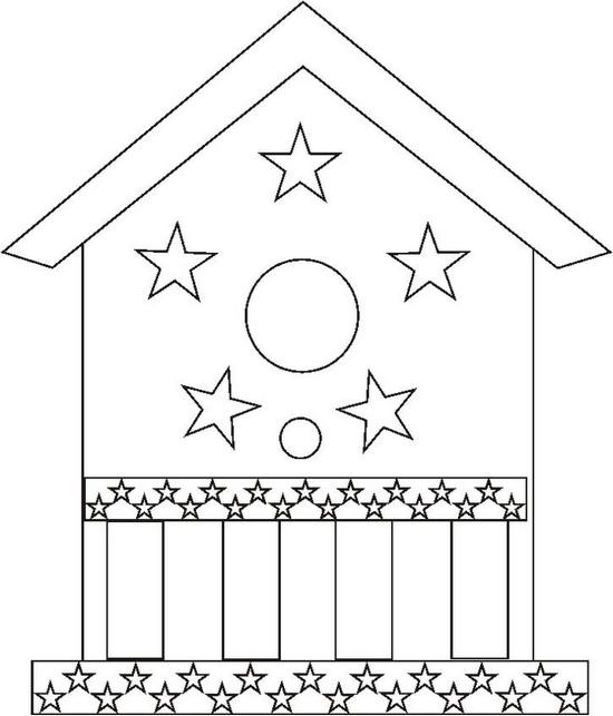 Birdhouse Coloring Page Color Book