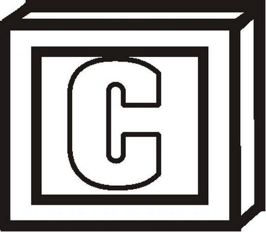 Blocklettercbw Coloring Page
