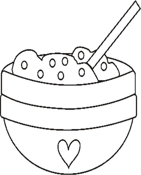 Bowlcookiedoughbw Coloring Page Color Book