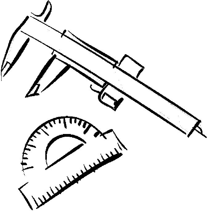 Caliper & Protractor Coloring Page