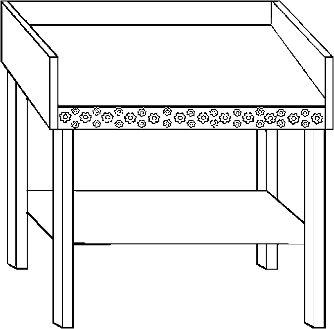 Changing Table Coloring Page