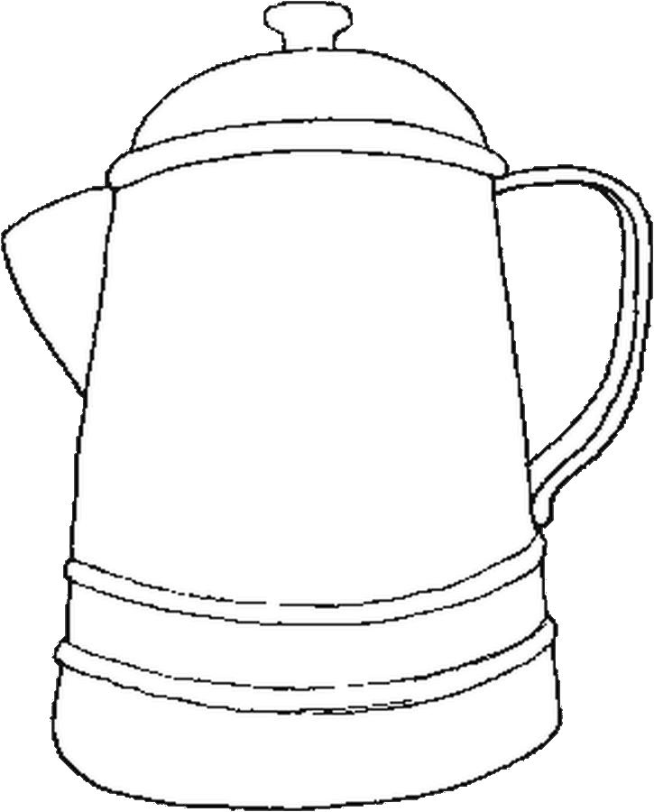 Coffee Pot Coloring Page