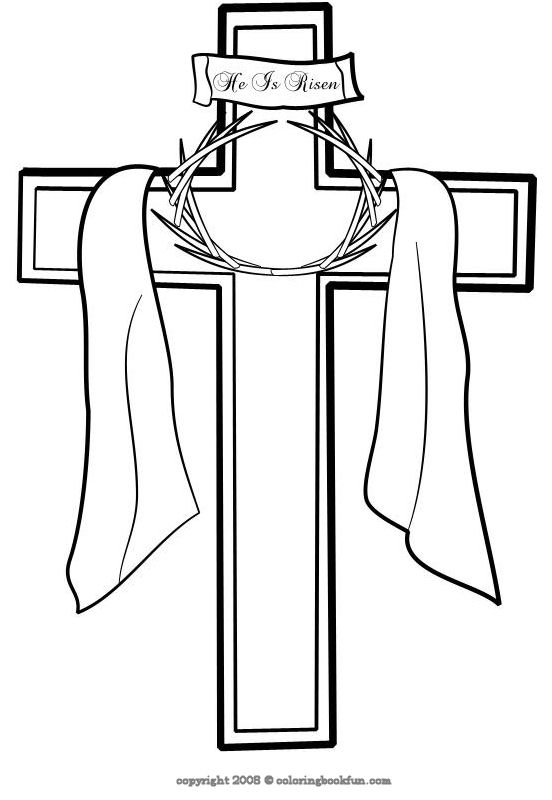 coloring pages cross - photo#26
