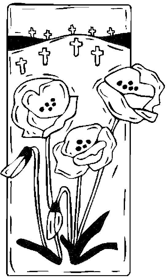 Crosses roses coloring page color book for Coloring pages of crosses and roses