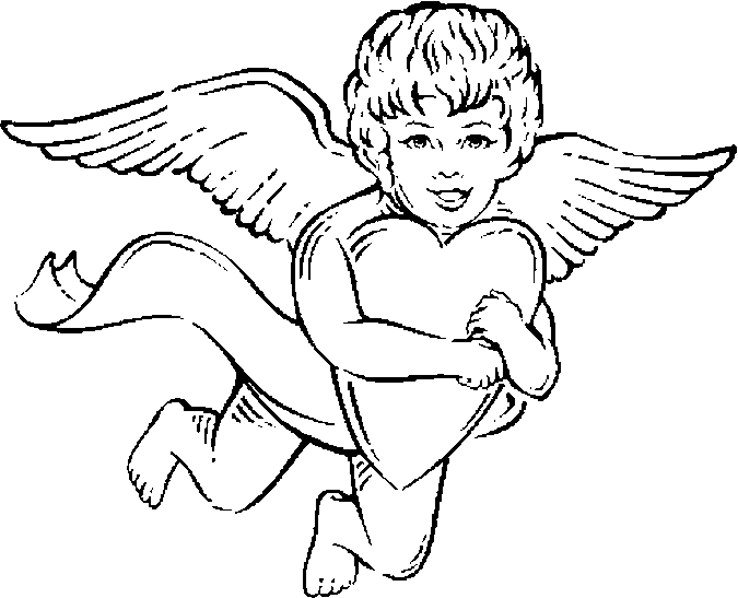 cupid coloring pages hearts - photo#33