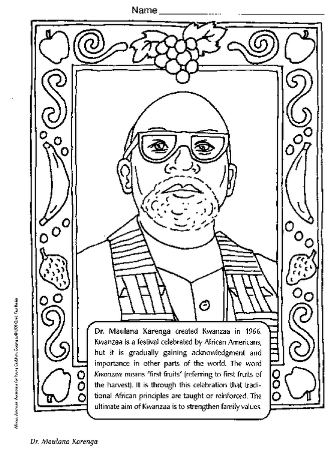 Dr Maulana Karenga Coloring Page Color Book