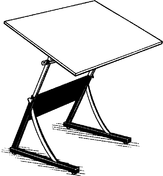 Drafting Table Coloring Page