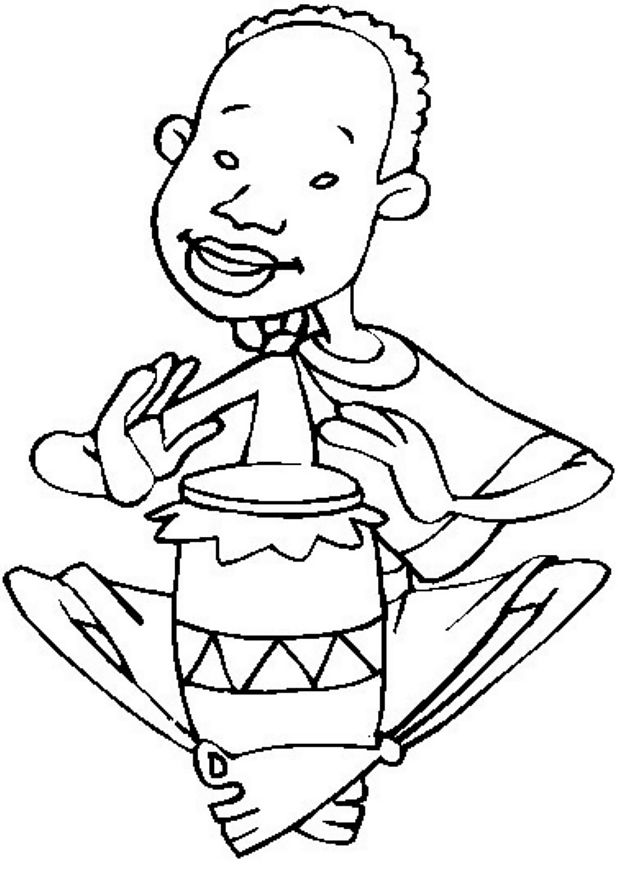 Drums Coloring Page