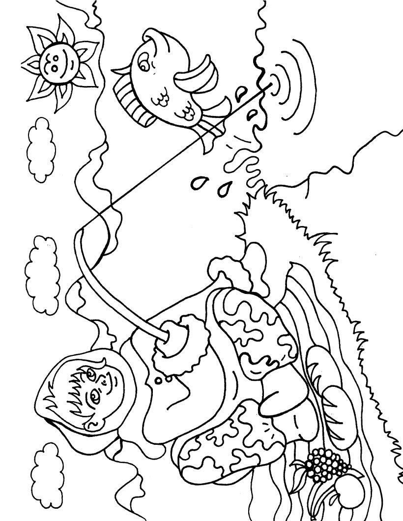 Eskimo Coloring Page - Color Book