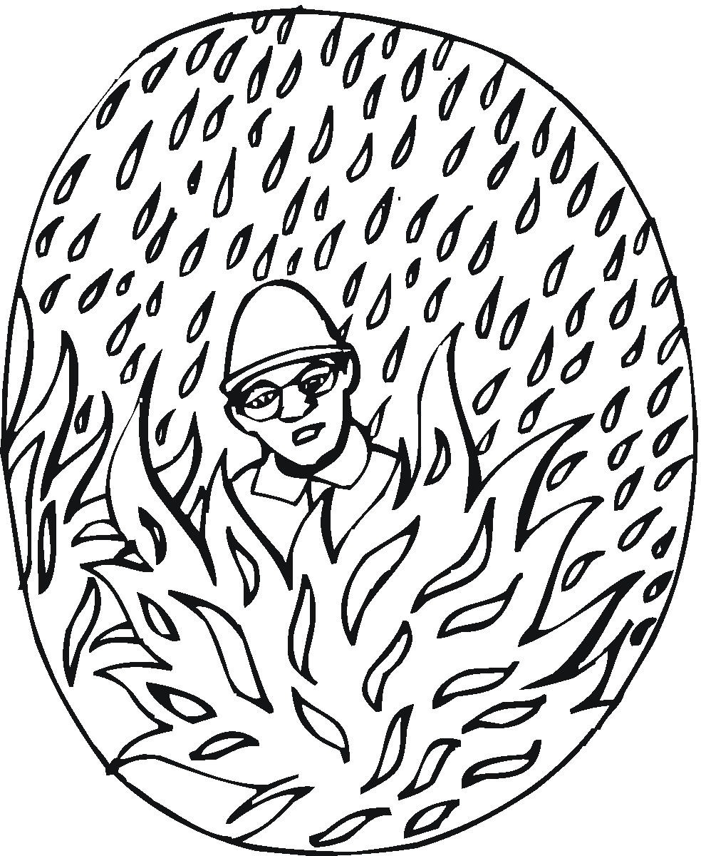 Fireman Coloring Page - Color Book