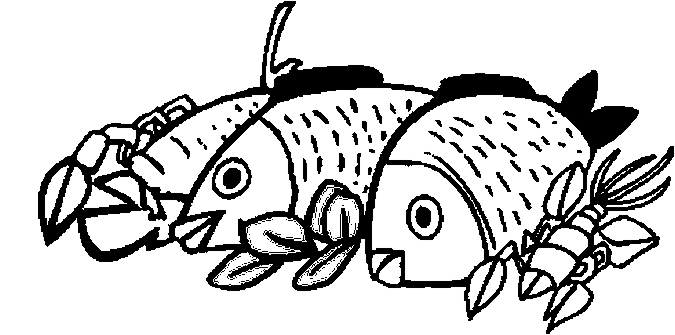 fish lobster coloring page - Lobster Coloring Page