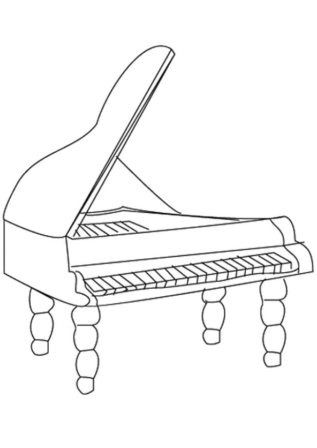 Fortepiano Coloring Page