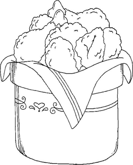 Fried Chicken Coloring Page - Color Book