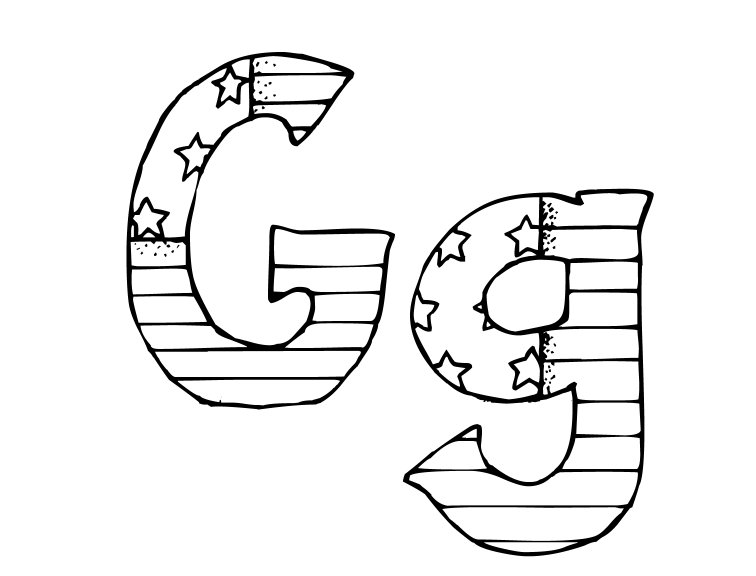 G Coloring Page