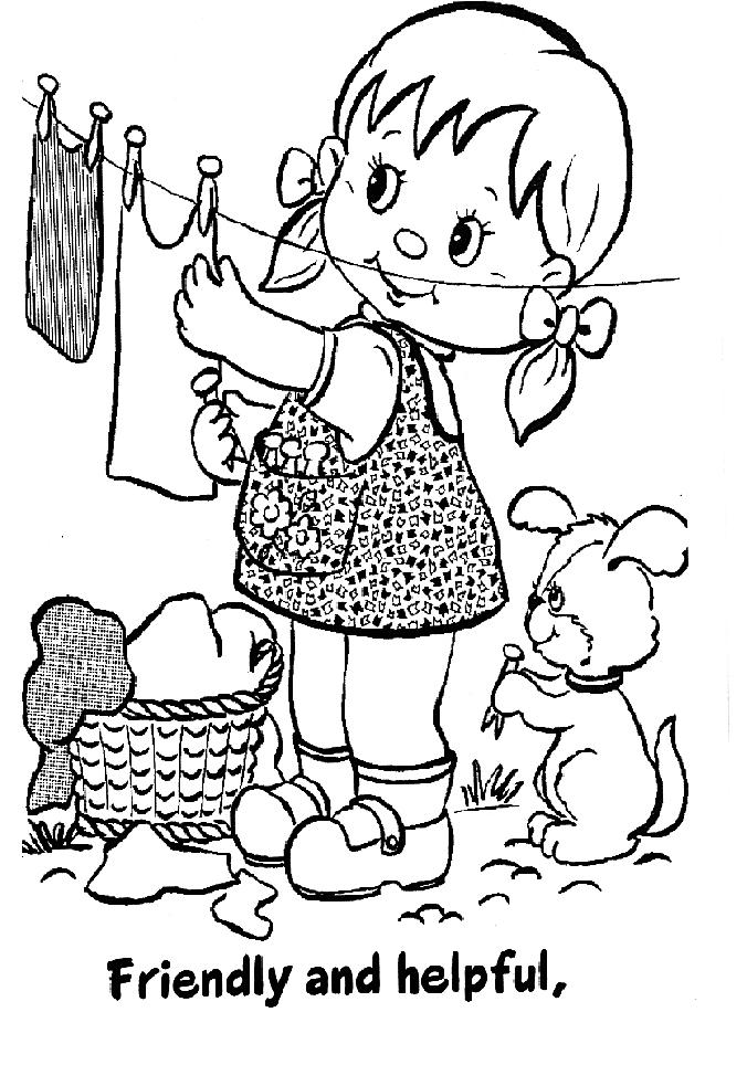 girl scouts coloring pages color book - Coloring Pages Girl
