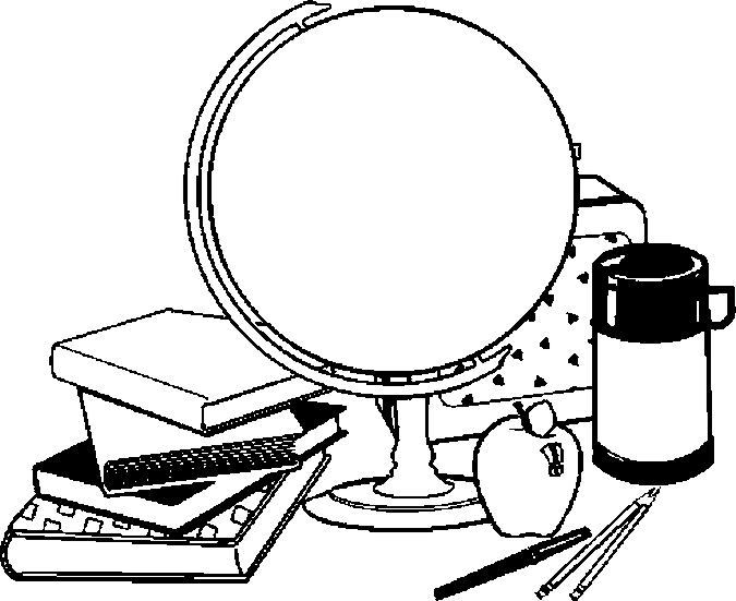 Globe & Coloring Page