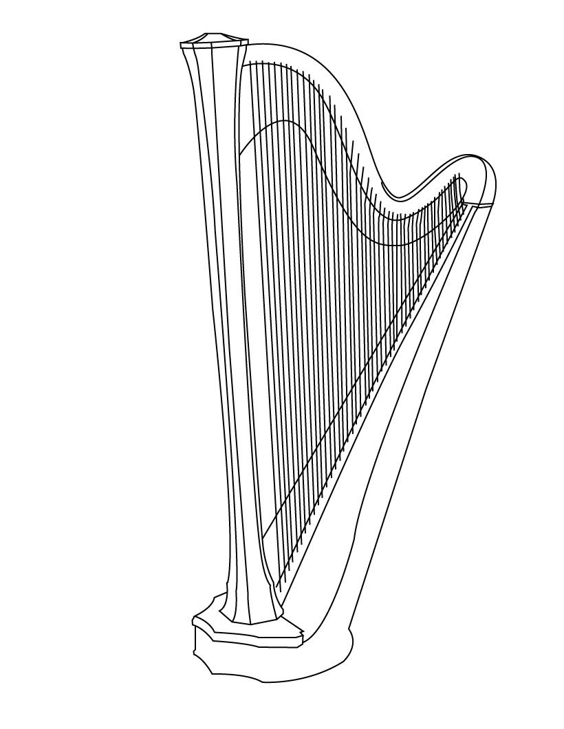 Harp Coloring Page