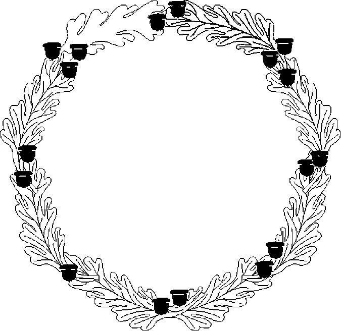 Holiday wreath coloring page