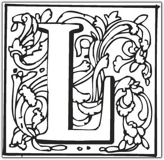 the letter l coloring pages - l coloring page color book