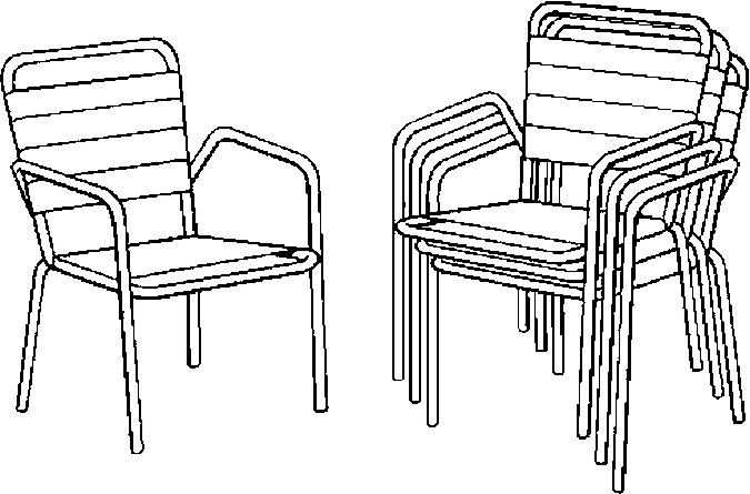 Lawn Chairs Coloring Page - Color Book