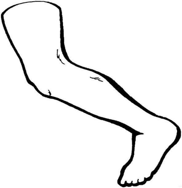 Leg Coloring Page