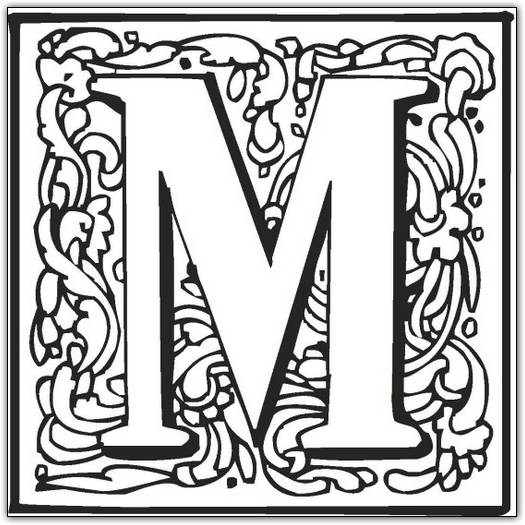 M Coloring Page - Color Book