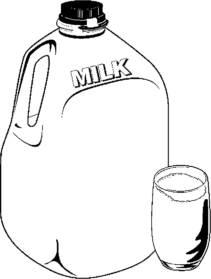 Milk Jug Glass Frame Coloring Page