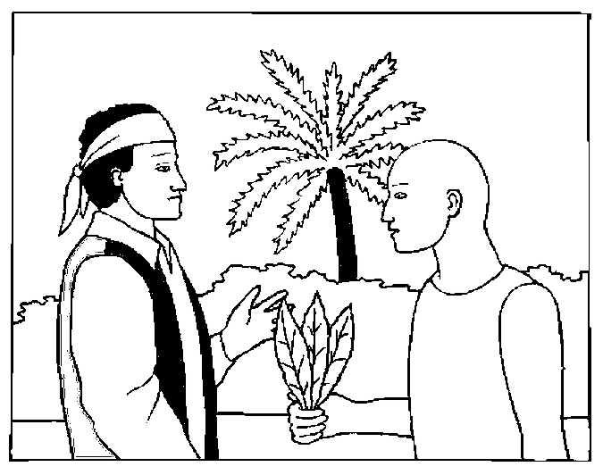 Native Showing Tobacco Coloring Page