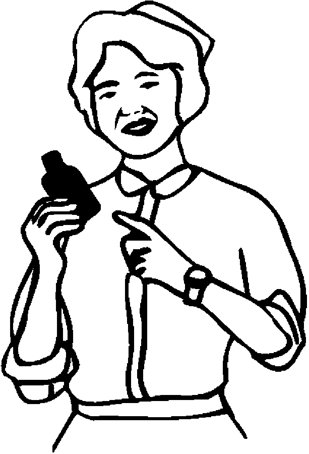 Nurse With Little Kids Coloring Page Outline Of Cartoon