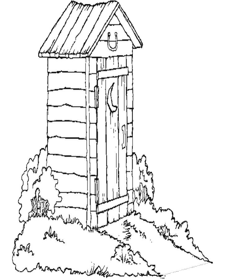 Out House Coloring Page