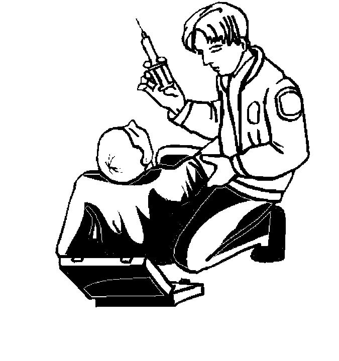 Paramedic Giving Shot Coloring Page
