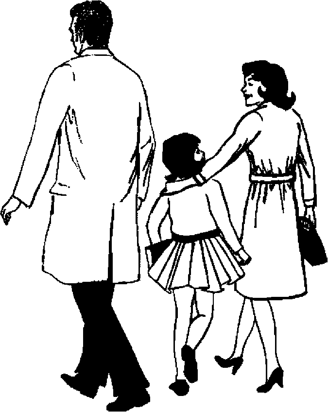 Pediatrician & Family Coloring Page