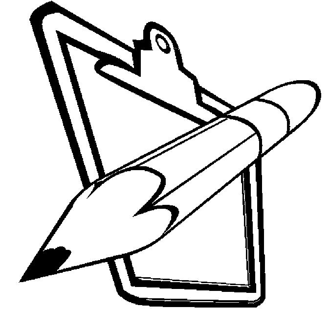 Pencil & Clipboard Coloring Page