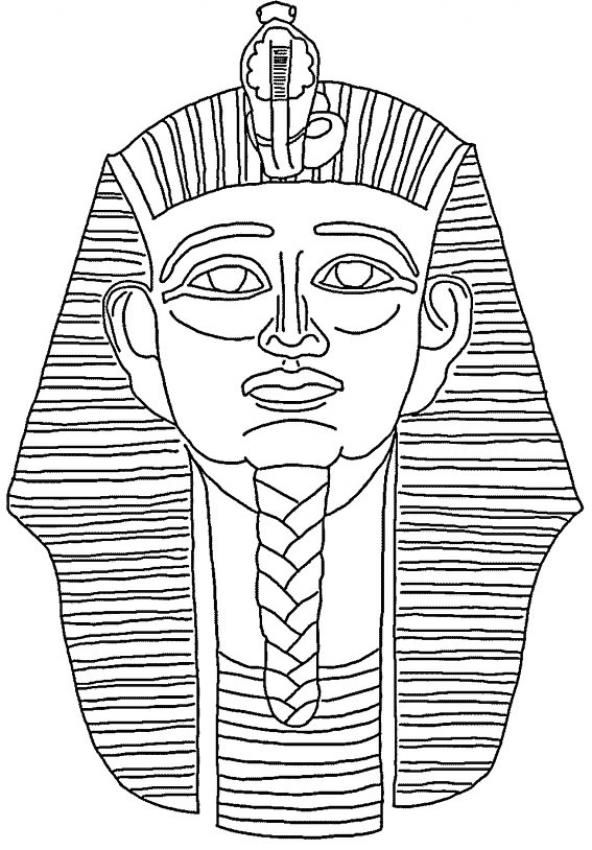 Pharoah Coloring Page Color Book
