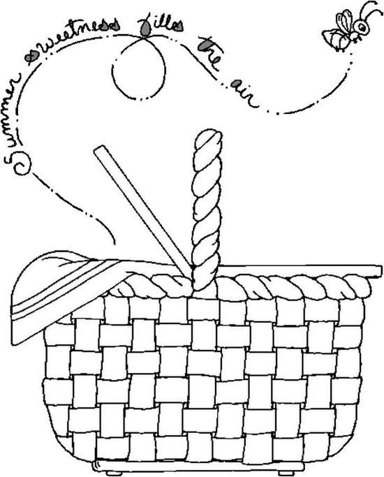 Basket Coloring Page Picnic Basket Coloring Page is